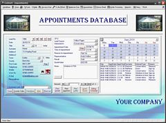 Customised Double Glazing Appointments Admin Database jpg
